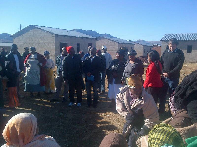 Mnikelo Ndabankulu speaking at an Abahlali baseMjondolo Meeting, Nomzamo shack settlement, Queenstown, Eastern Cape, 28 September 2013