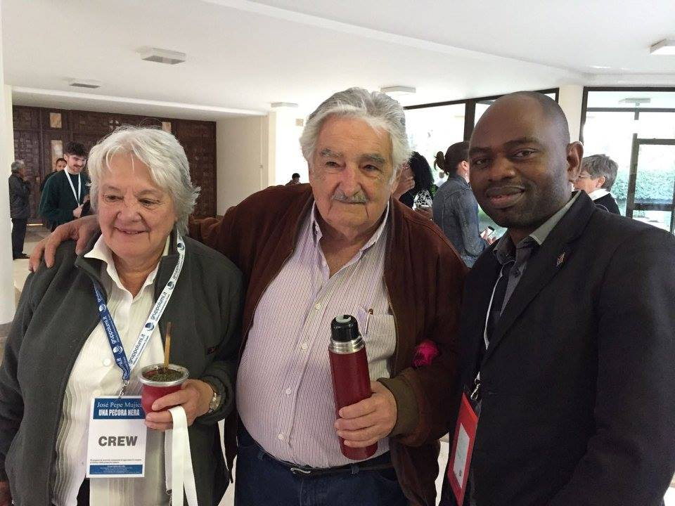 S'bu Zikode with Jose Mujica at the Vatican in Rome