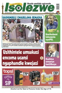 Isolezwe front page